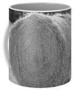 Black And White Hay Ball Coffee Mug