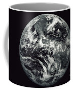 Black And White Image Of Earth Coffee Mug by Stocktrek Images
