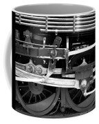 Black And White Steam Engine - Greeting Card Coffee Mug