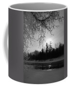 Black And White Sunrise Coffee Mug