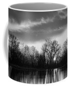 Black And White Sunrise Over Water Coffee Mug by James BO  Insogna