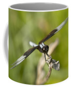 Black And White Widow Skimmer Dragonfly Coffee Mug
