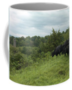 Black Angus Cattle Coffee Mug by Justin Guariglia
