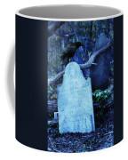 Black Bird Perched On Old Tombstone Coffee Mug
