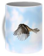 Black-capped Chickadee In Flight Coffee Mug