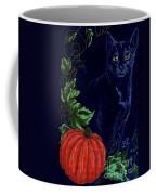 Black Cat Cross Stitch Coffee Mug