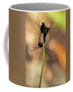 Black Dragonfly Love Coffee Mug