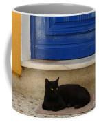 Black Greek Cat Coffee Mug