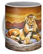 Black Maned Lion And Cub Coffee Mug