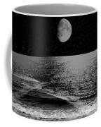 Black Night At The Shore Coffee Mug