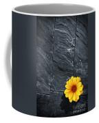 Black Schist Flower Coffee Mug by Carlos Caetano