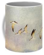 Black Skimmers On The Move Coffee Mug