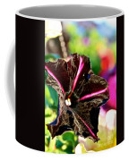 Black Spider Petunia Coffee Mug