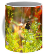 Black Swallow Tail Butterfly In Autumn Colors Coffee Mug