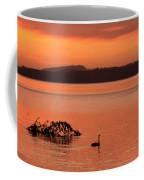 Black Swan Swims In Rotortua Coffee Mug