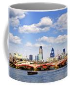 Blackfriars Bridge With London Skyline Coffee Mug