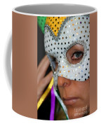 Blond Woman With Mask Coffee Mug