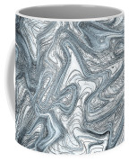 Blue Abstract Art Coffee Mug
