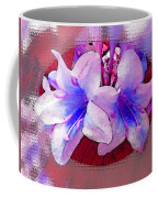 Blue And Red Weigela Window Coffee Mug
