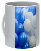 Blue And White Balloons  Coffee Mug