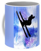 Blue And White Splashes With Ski Jump Coffee Mug