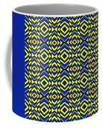 Blue And Yellow Chevron Pattern Coffee Mug