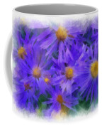 Blue Asters - Watercolor Coffee Mug