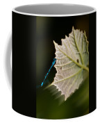 Blue Damsel On Leaf Coffee Mug