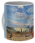 Blue Flag And Red Sun Shade Coffee Mug