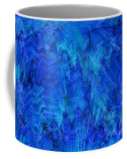 Blue Glass - Abstract Art Coffee Mug by Carol Groenen