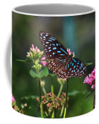 Blue Glassy Tiger Butterfly Coffee Mug