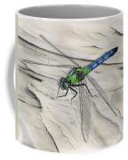Blue-green Dragonfly Coffee Mug