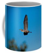 Blue Heron In Flight Coffee Mug