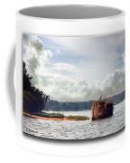 Blue Heron On The Duck Blind Coffee Mug