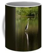 Blue Heron Reflection Coffee Mug