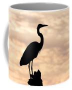 Blue Heron Silhouette Coffee Mug