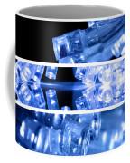 Blue Led Lights In Three Strips Coffee Mug