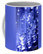 Blue Led Lights Pointing Upwards Coffee Mug