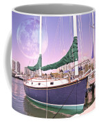 Blue Moon Harbor II Coffee Mug by Betsy Knapp