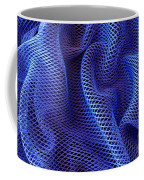 Blue Net Background Coffee Mug by Carlos Caetano