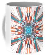 Blue Orange Kaleidoscope Coffee Mug