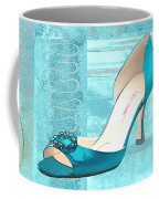 Blue Satin Ball Gown Pump Coffee Mug