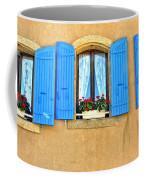 Blue Shutters In Provence Coffee Mug