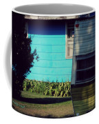 Blue Siding And Camper Coffee Mug