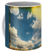 Blue Sky On Old Grunge Paper Coffee Mug