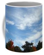 Blue Sky White Clouds Autumn Prints Coffee Mug