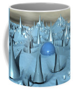 Blue Spikes Alien Terrain Coffee Mug