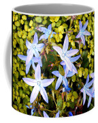Blue Star Flowers Coffee Mug