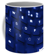 Blue Warped Keyboard Coffee Mug