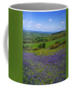Bluebell Flowers On A Landscape, County Coffee Mug